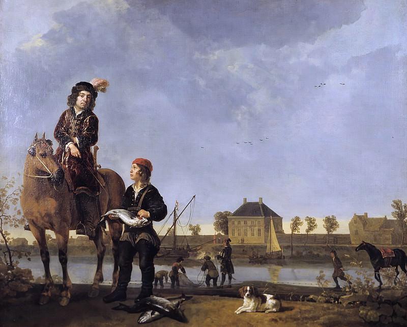 Aelbert Cuyp - Equestrian Portrait of Pieter de Roovere (1602-1652). Mauritshuis