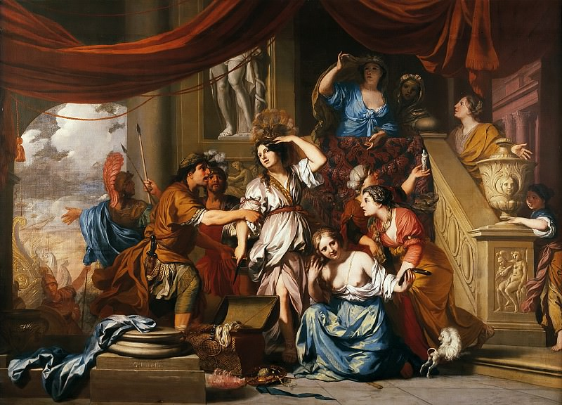 Gerard de Lairesse - Achilles Discovered among the Daughters of Lycomedes. Mauritshuis