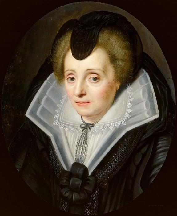 Unknown - Portrait of Louise de Coligny (1555-1620). Mauritshuis
