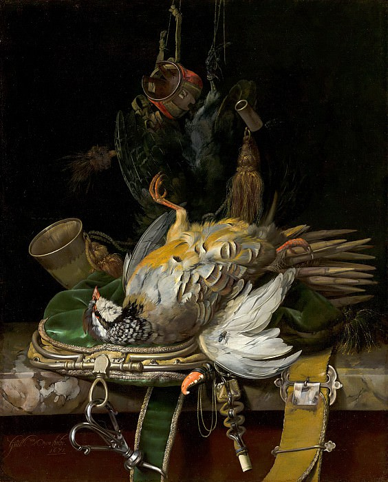 Willem van Aelst - Still Life with Partridges. Mauritshuis