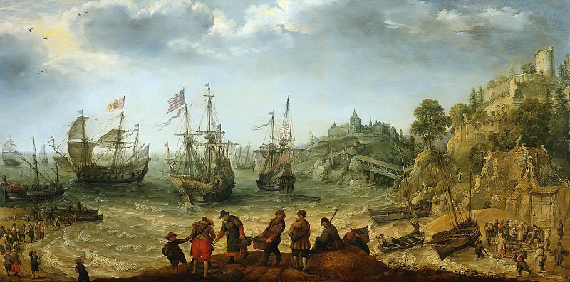 Adam Willaerts - Ships off a Rocky Coast. Mauritshuis