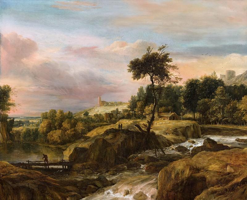 Рогман, Рулант - Горный пейзаж с водопадом. Маурицхёйс