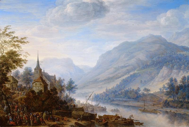 Сафтлевен, Херман - Вид на Рейн в Райнеке. Маурицхёйс