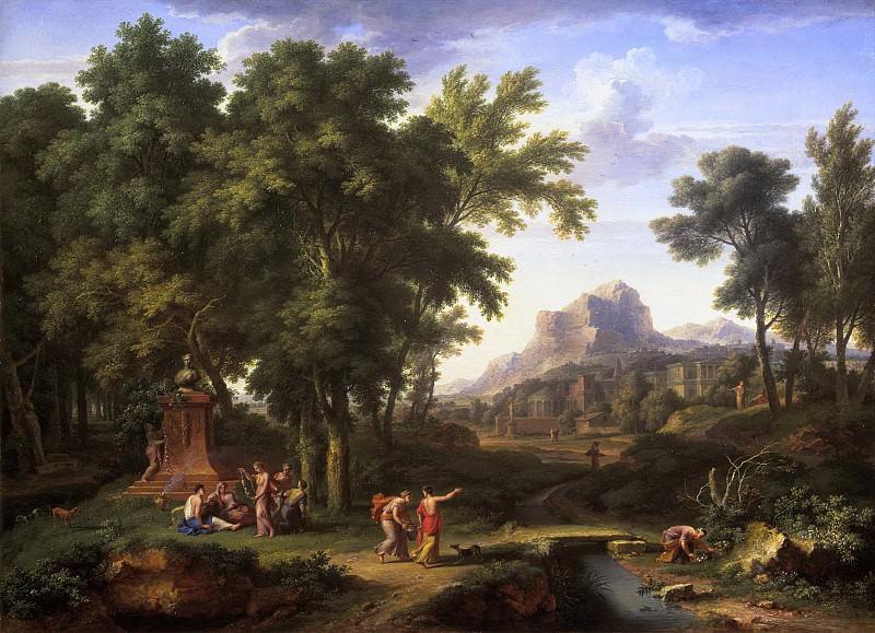 Jan van Huysum - Arcadian Landscape with a Bust of Flora. Mauritshuis