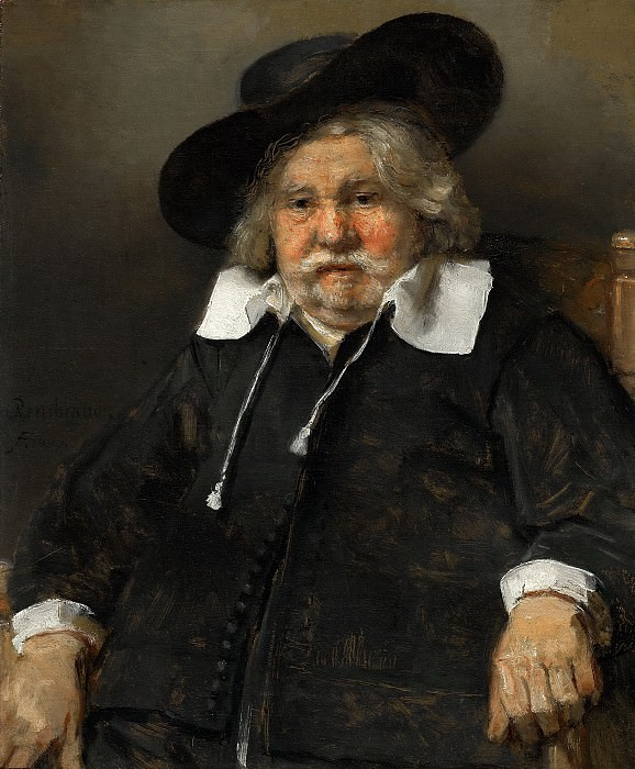 Rembrandt van Rijn - Portrait of an Elderly Man. Mauritshuis