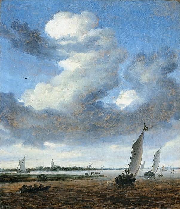 Salomon van Ruysdael - View of Beverwijk from the Wijkermeer. Mauritshuis