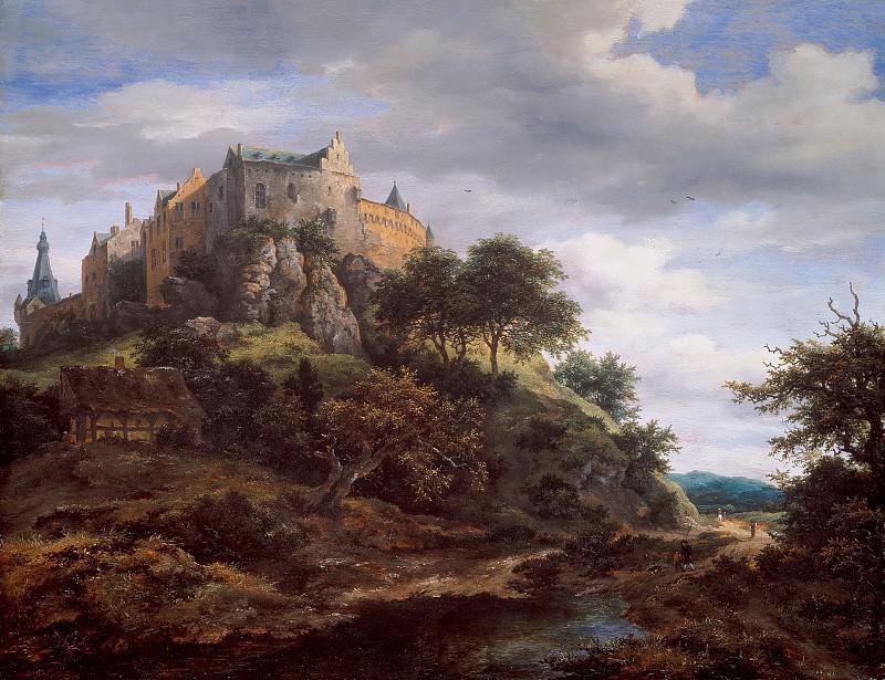 Jacob van Ruisdael - View of Bentheim Castle. Mauritshuis