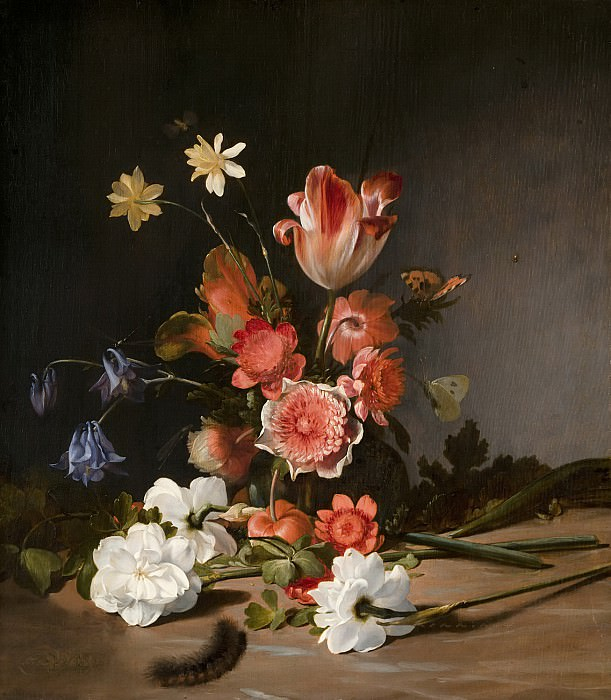 Dirck de Bray - Still Life with a Bouquet in the Making. Mauritshuis