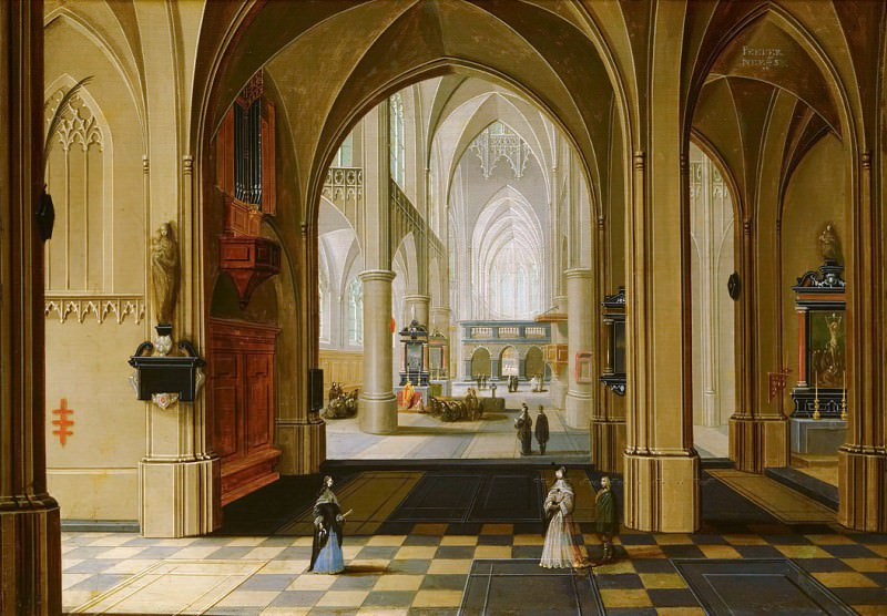 Peter Neeffs the Younger - Church Interior. Mauritshuis