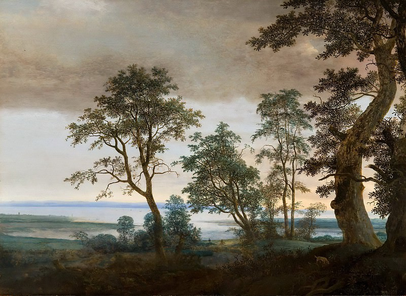 Cornelis Vroom - River Landscape, seen through the Trees. Mauritshuis