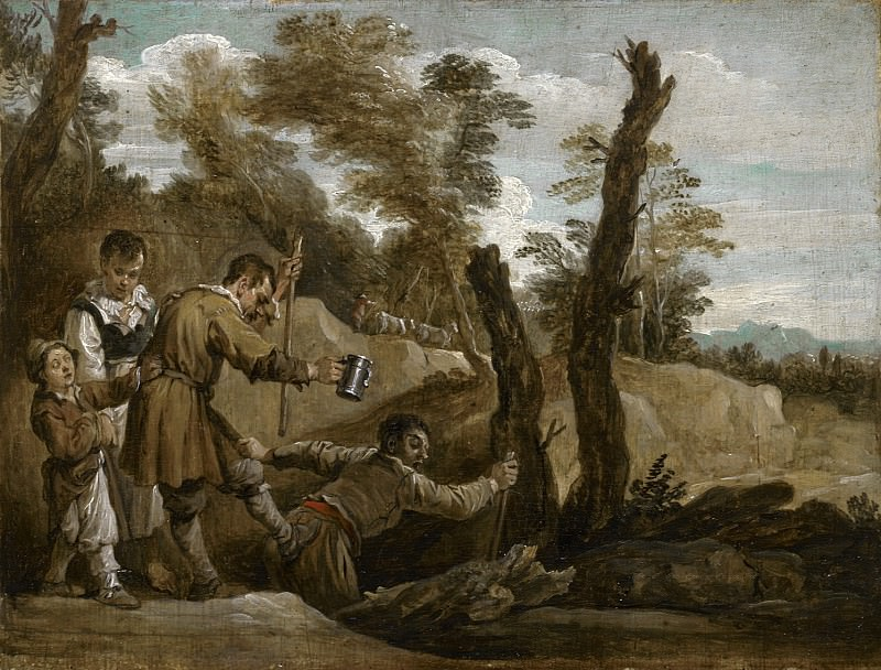 David Teniers the Younger - The Blind Leading the Blind. Mauritshuis
