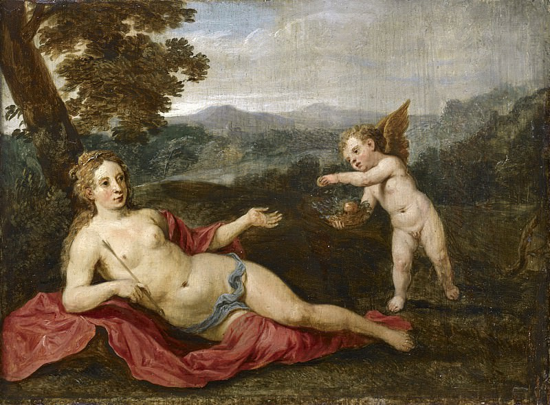 David Teniers the Younger - Venus and Cupid. Mauritshuis