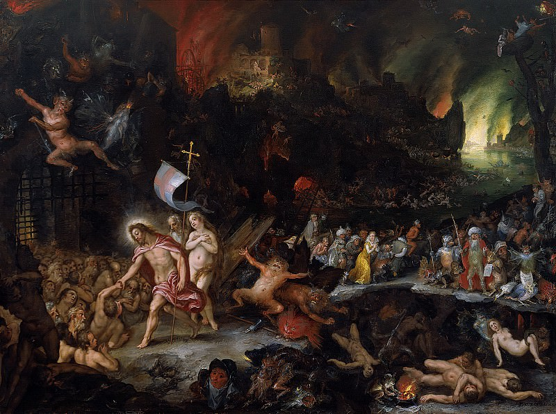 Jan Brueghel the Elder, Hans Rottenhammer - Christ's Descent into Limbo. Mauritshuis