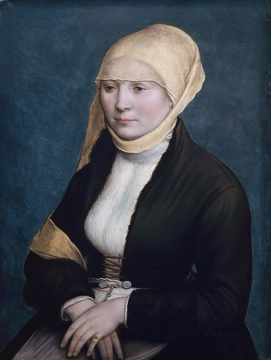 Workshop of Hans Holbein the Younger (1498–1543) - Portrait of a Woman. Mauritshuis