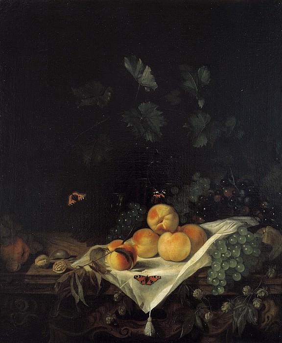Кальрат, Абрахам ван - Натюрморт с персиками и виноградом. Маурицхёйс
