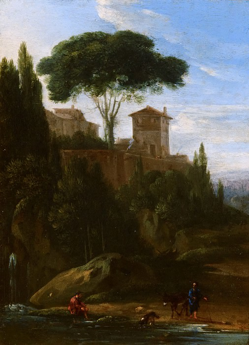 Jan Willemsz Lapp - Italianate Landscape with Buildings. Mauritshuis
