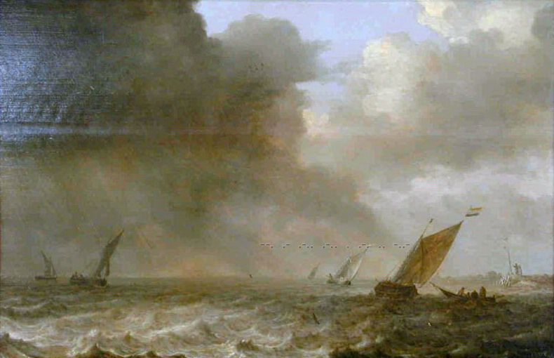 Pieter Mulier the Younger - Choppy Sea. Mauritshuis