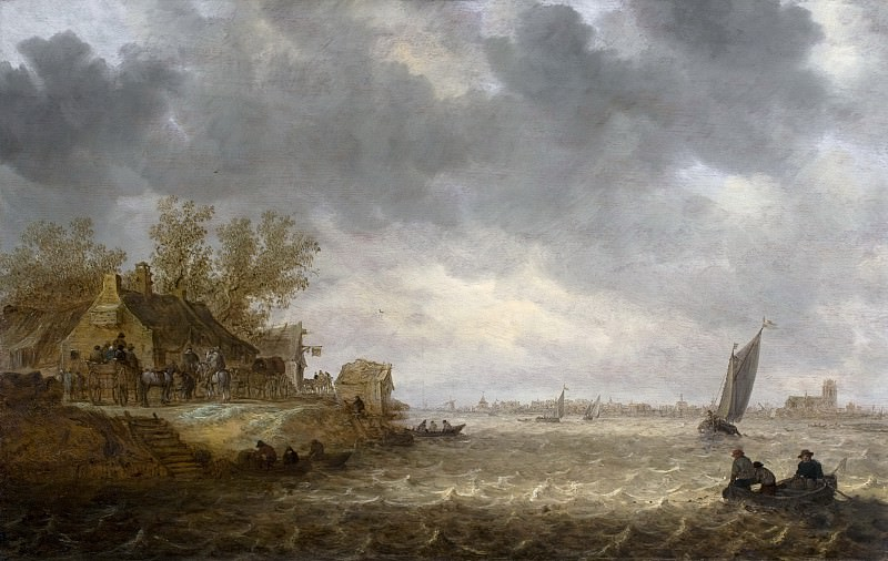 Jan van Goyen - View of Dordrecht from Papendrecht. Mauritshuis