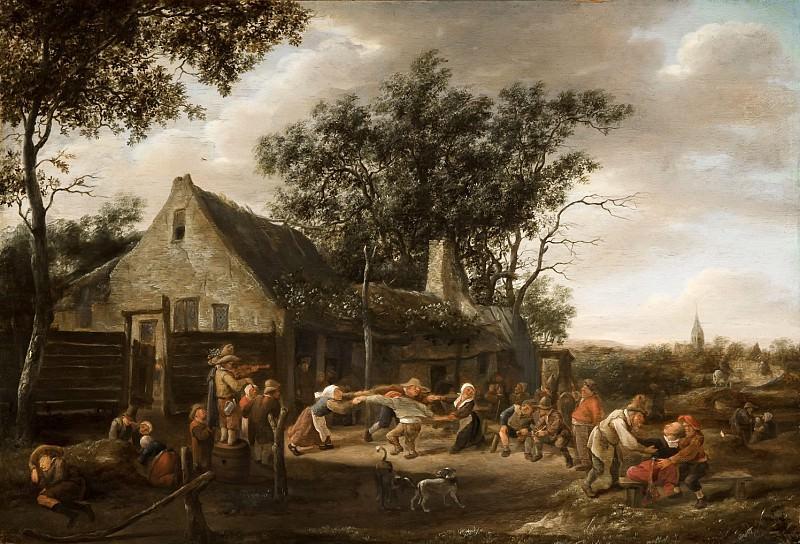 Jan Steen - Dancing Peasants at an Inn. Mauritshuis