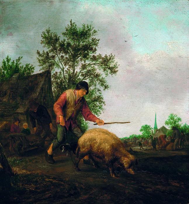 Остаде, Исаак ван - Крестьянин со свиньей. Маурицхёйс