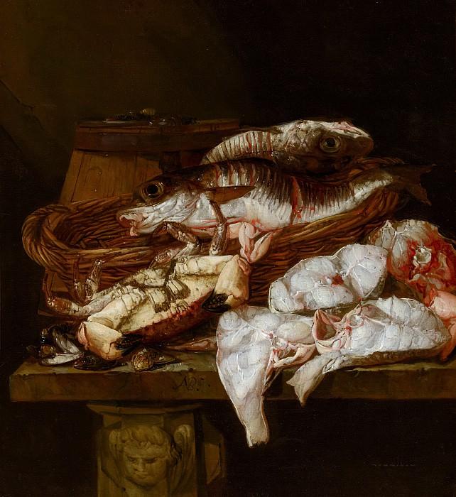 Abraham van Beyeren - Still Life with Seafood. Mauritshuis