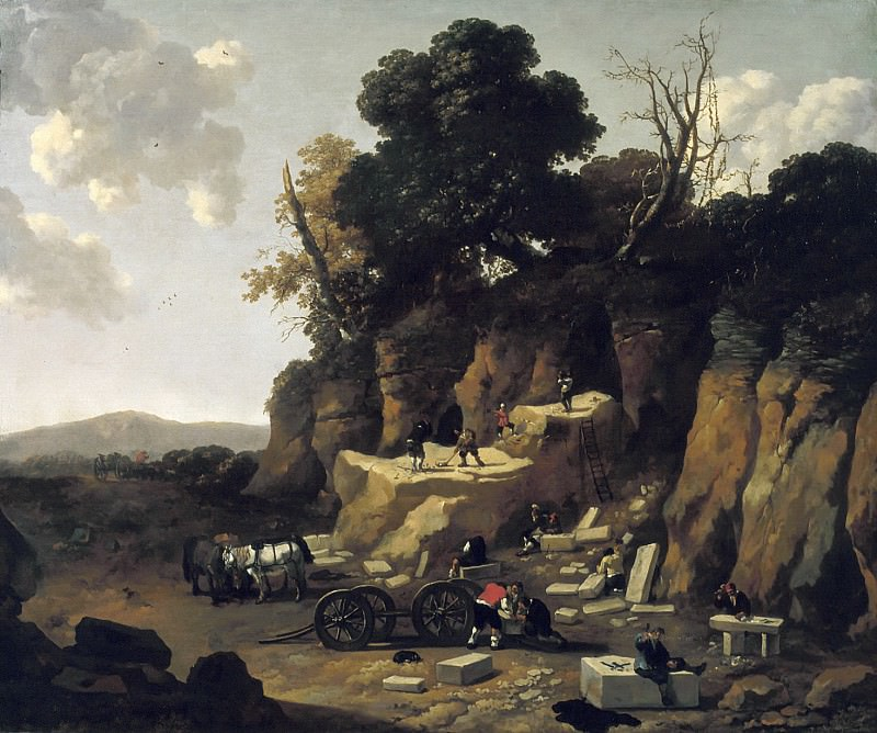 Abraham Begeyn - The Quarry. Mauritshuis