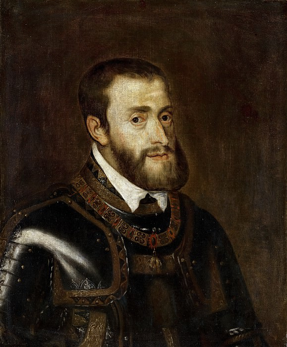 Titian (after) - Portrait of Emperor Charles V (1500-1558). Mauritshuis