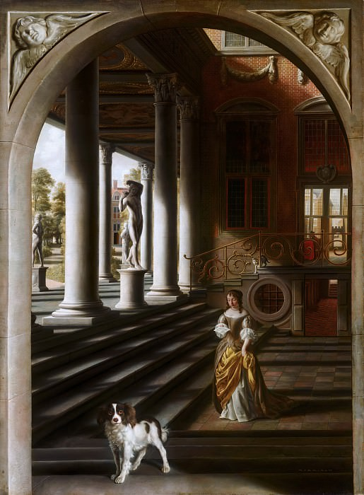 Samuel van Hoogstraten - Perspective View with a Woman Reading a Letter. Mauritshuis