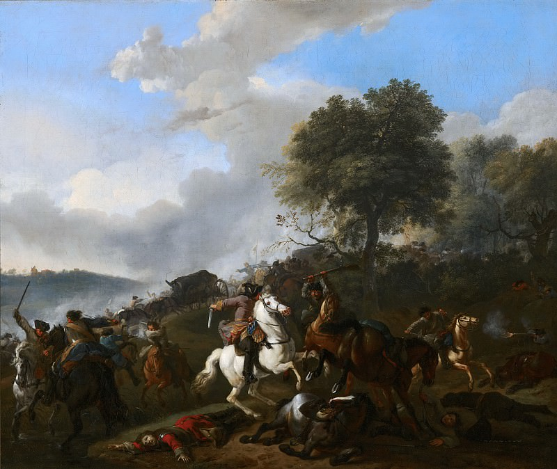 Jan van Huchtenburgh - Ambushing a Convoy. Mauritshuis