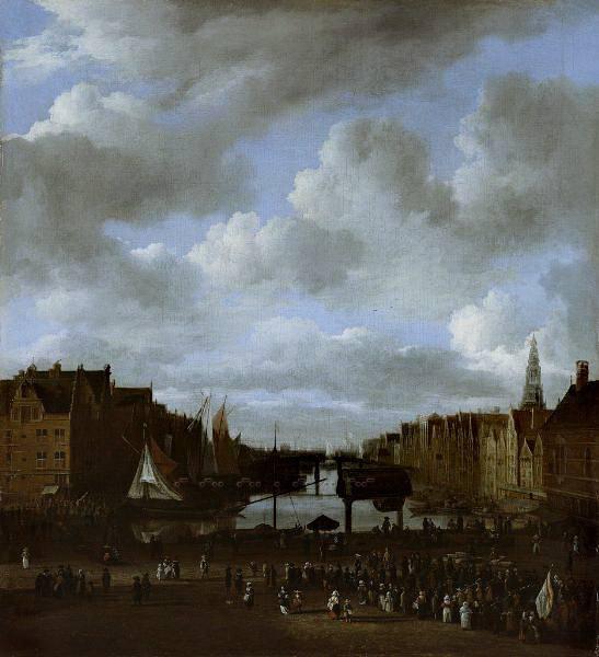 Jacob van Ruisdael - View of the Dam and the Damrak in Amsterdam. Mauritshuis