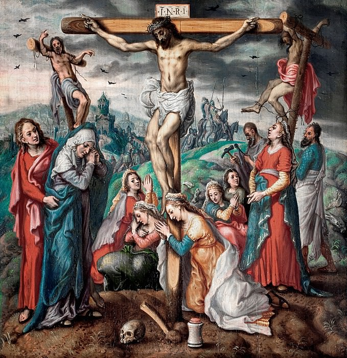 Pieter Aertsen (attributed to) - The Crucifixion. Mauritshuis