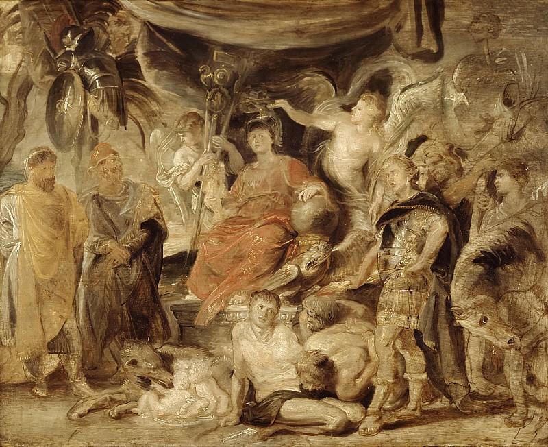 Рубенс, Питер Пауль - Триумф Рима - Молодой император Константин чествует Рим. Маурицхёйс