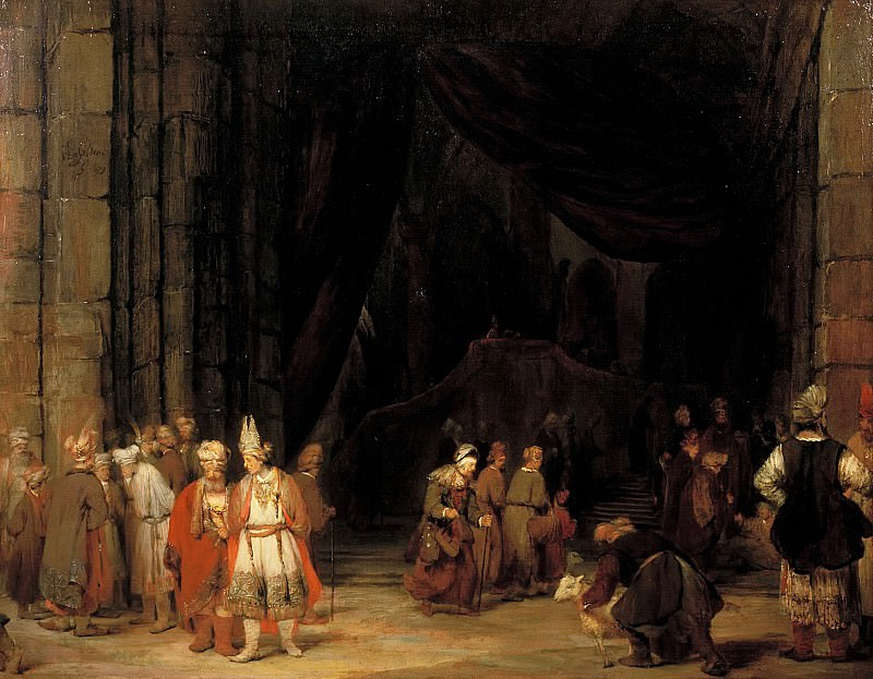 Arent de Gelder - The Forecourt of a Temple. Mauritshuis