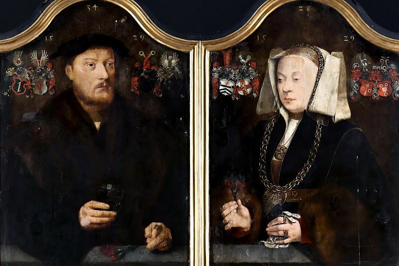 Брейн, Бартеломеус I - Диптих с портретами Иоганна фон Ролинксверта и его жены, Кристины фон Штернберг. Маурицхёйс