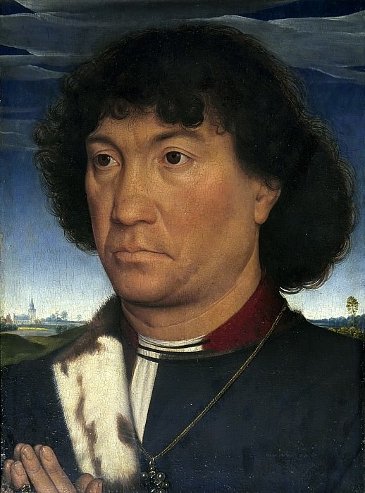Hans Memling - Portrait of a Man from the Lespinette Family. Mauritshuis