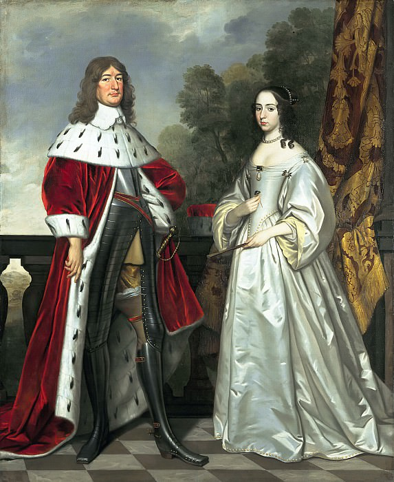 Gerrit van Honthorst (and studio) - Double Portrait of Friedrich Wilhelm I (1620- 1688) and Louise Henriette (1627-1667). Mauritshuis