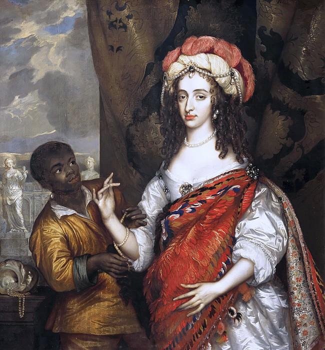 Adriaen Hanneman - Posthumous Portrait of Mary I Stuart (1631- 1660) with a Servant. Mauritshuis