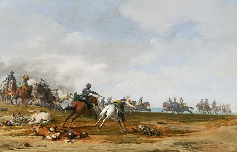 Pieter Post - Cavalry Engagement. Mauritshuis