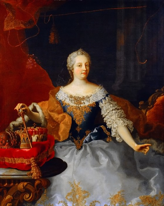 Martin Meytens the Youger (studio of) - Portrait of Maria Theresa (1717-1780). Mauritshuis