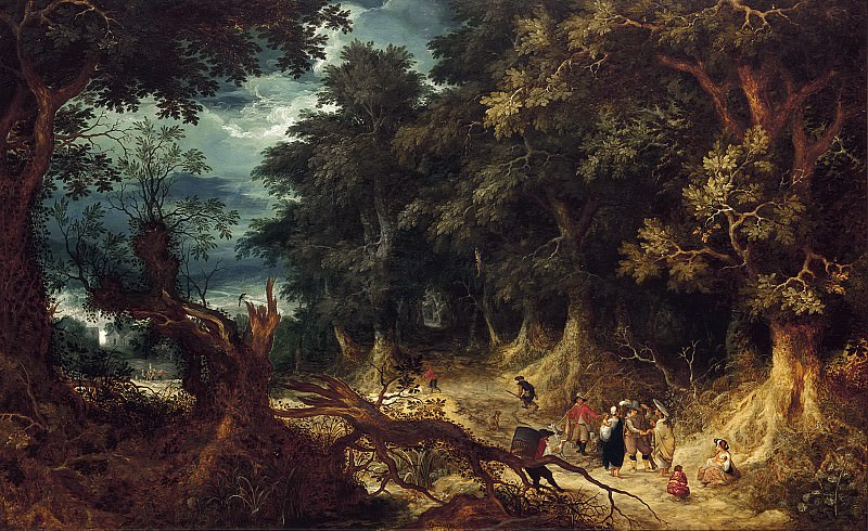 Abraham Govaerts - Wooded Landscape with Gipsy Women. Mauritshuis