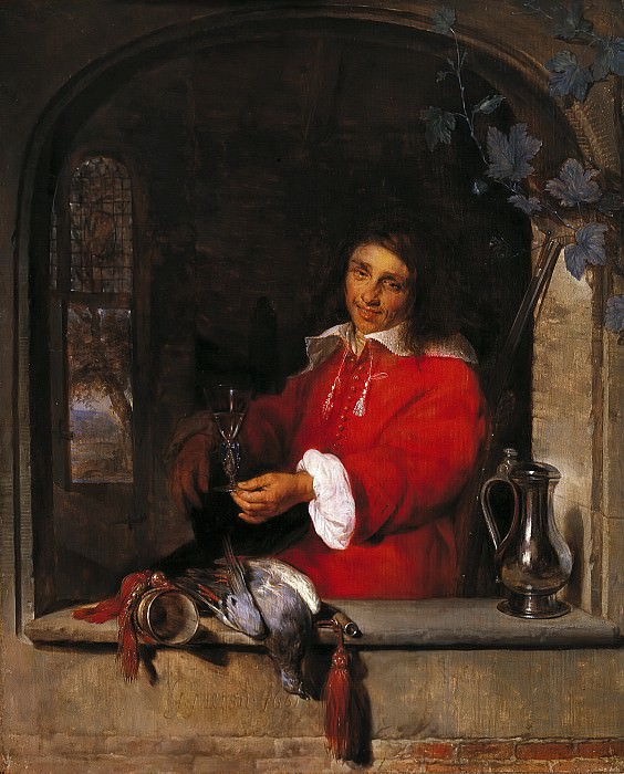 Gabriel Metsu - The Huntsman. Mauritshuis