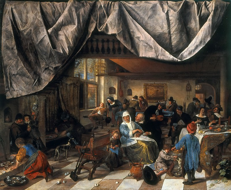 Jan Steen - The Life of Man. Mauritshuis