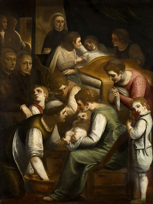 Luca Cambiaso - The Birth of Mary. Mauritshuis