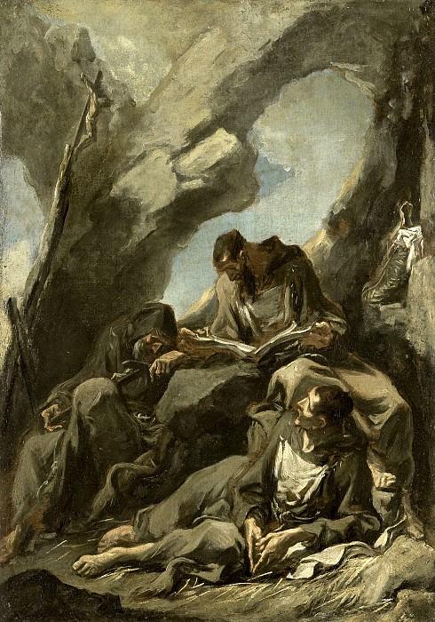 Alessandro Magnasco - Three Capuchin Monks in Meditative Prayer. Mauritshuis
