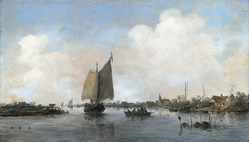 Jan van Goyen - River View. Mauritshuis