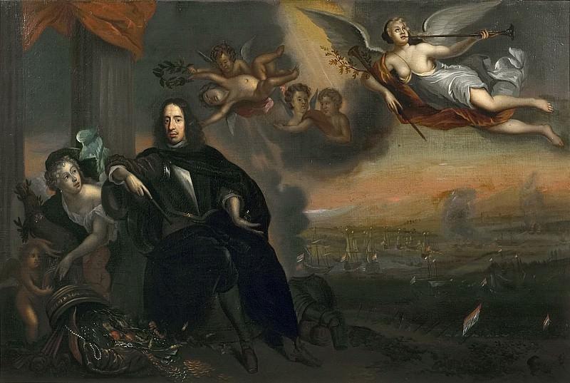 Бан, Ян де - Аллегорический портрет Корнелиса де Витта (1623-1672) как инициатора победы в морском сражении при Чатеме в 1667 году. Маурицхёйс