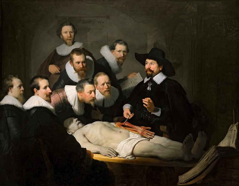 Rembrandt van Rijn - The Anatomy Lesson of Dr Nicolaes Tulp. Mauritshuis