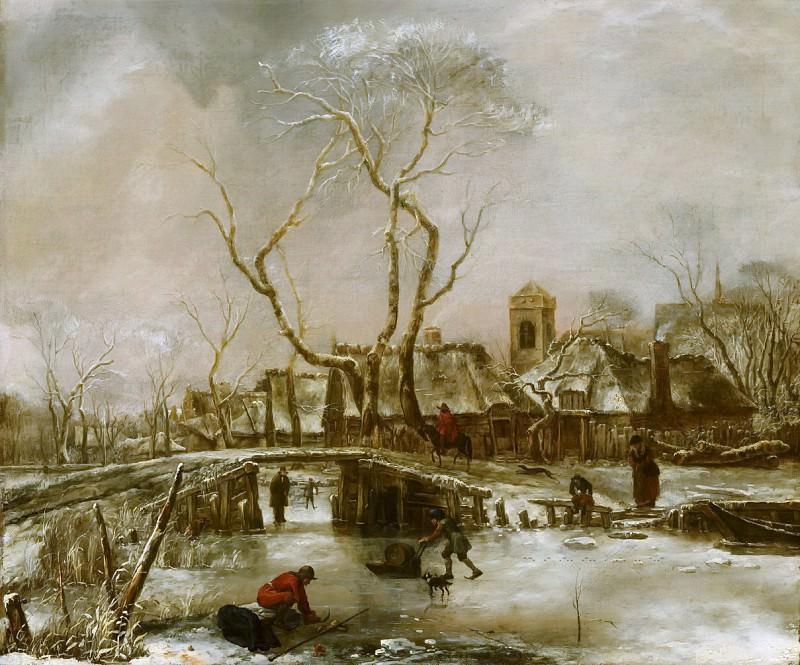 Jan van de Cappelle - Winter Landscape. Mauritshuis