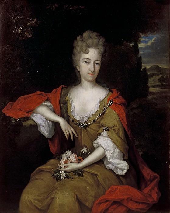 Constantijn Netscher - Portrait of Anna Maria Roman (1680-1758). Mauritshuis