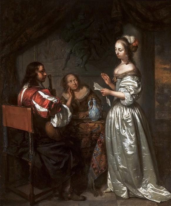 Caspar Netscher - Company Making Music. Mauritshuis